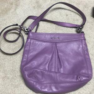 EUC lavender Coach purse